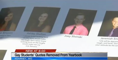 Gay High Schoolers Quotes Removed From School Yearbook Newnownext