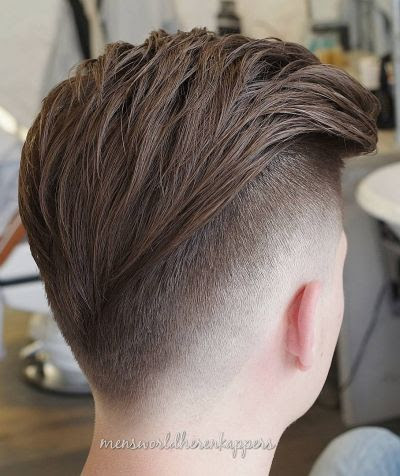 30 Inspiration V Cut Fade Hairstyle