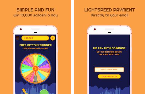 The description of Free Bitcoin Spinner App