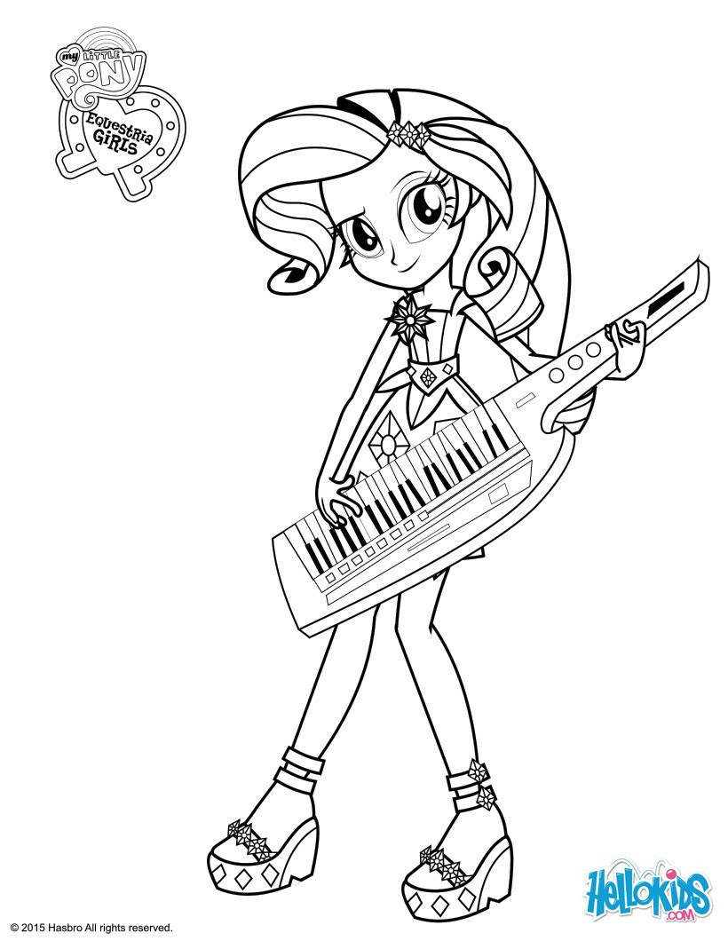 Equestria Girl Coloring Pages To Print At Getcoloringscom Free