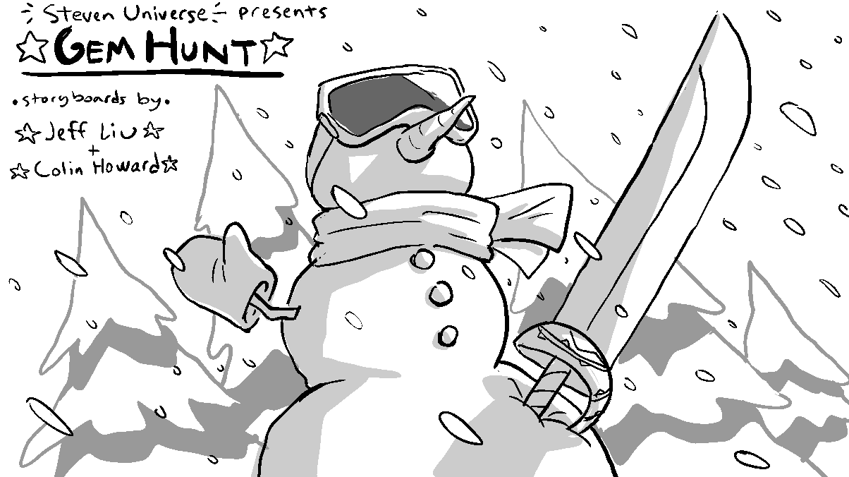 New episode of Steven Universe! Gem Hunt Storyboards by Jeff Liu and Colin Howard Tonight at 7PM on CN!