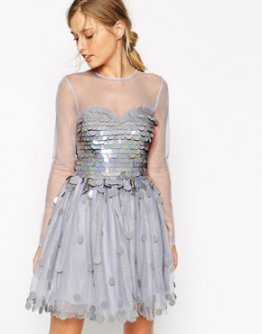 Image 1 ofASOS SALON Shimmer Bodice Prom Dress