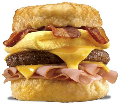 6-Top 10 comidas mais Calóricas do mundo- Hardee's Double Bacon Cheese Thickburger