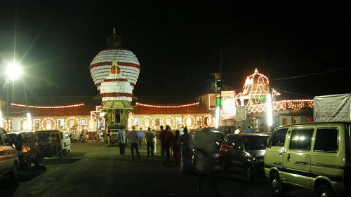 Illuminated Venkatramana Temple - Katapady