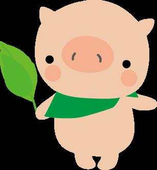 豚子ぶたのイラスト無料イラストフリー素材