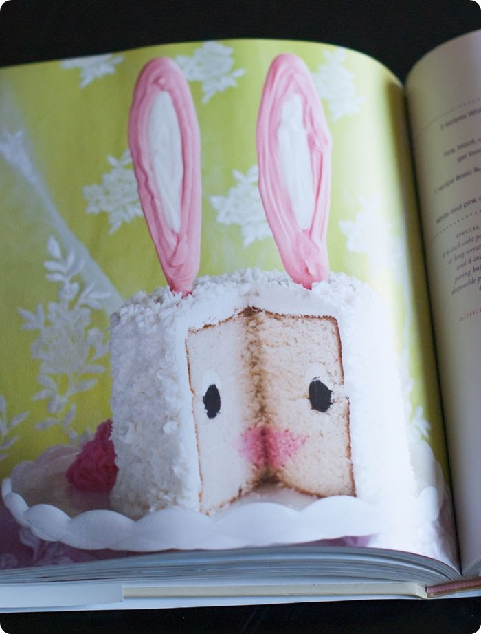 bunny cake from Surprise-Inside Cakes: book review & giveaway