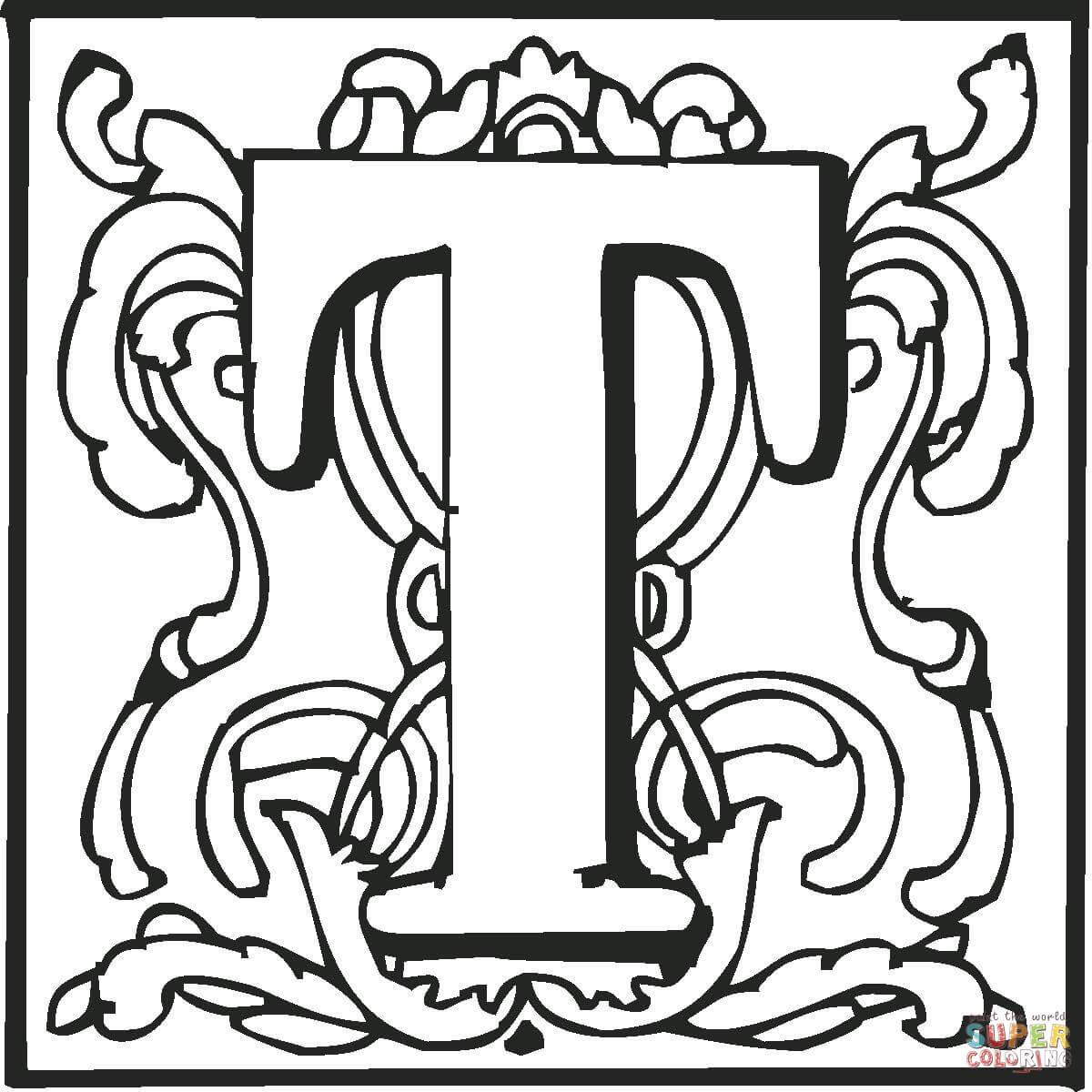 Dibujo De La Letra T Para Colorear Dibujos Para Colorear Imprimir