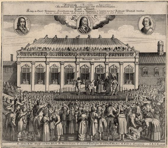 NPG D1306,The execution of  King Charles I,after Unknown artist