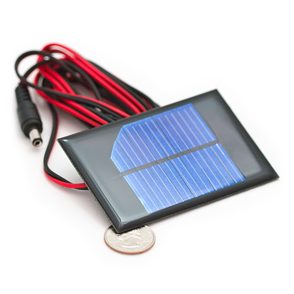 Instapark NEW All Black 5W Mono-crystalline Solar Panel with 12V