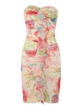 JS Collections Printed Short Stretch Dress