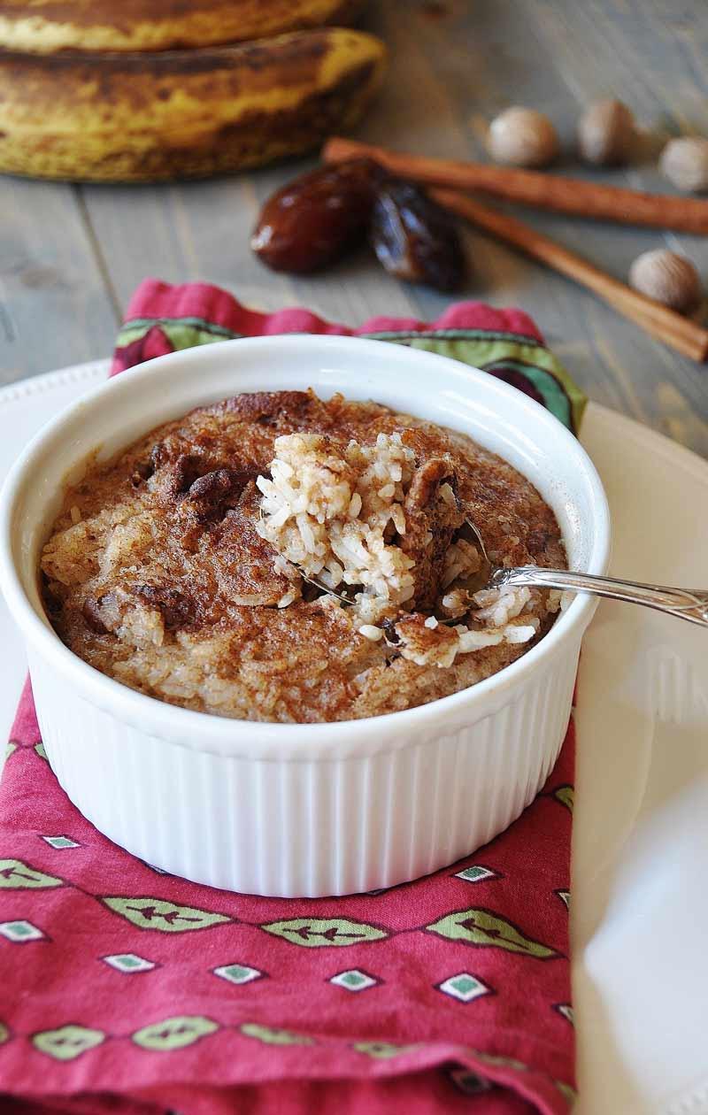 Vegan NOG Rice Pudding (Dairy and Egg Free) - Veganosity