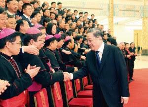 Yu Zhengsheng, membro do Comitê permanente do Bureau Político do Comitê Central do PCC, reuniu-se com a Associação Patriótica Católica Chinesa, com o novo líder da Conferência Episcopal Chinesa e o representante do IX Congresso Nacional da Igreja Católica Chinesa.