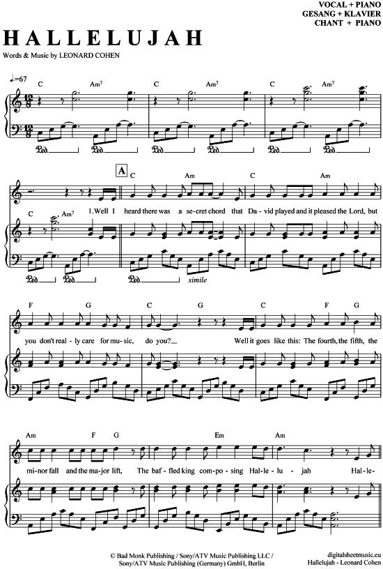 Contemporary Jeff Buckley Hallelujah Piano Chords Inspiration ...