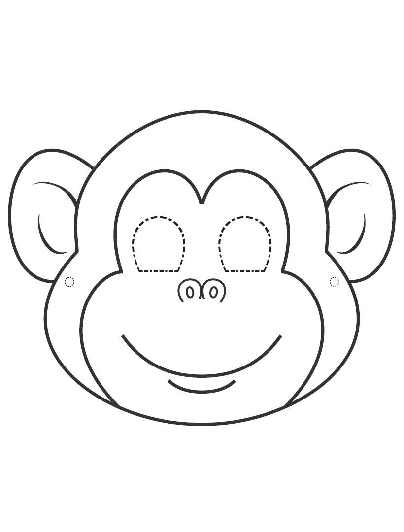 Kağıt Maymun Maskesi