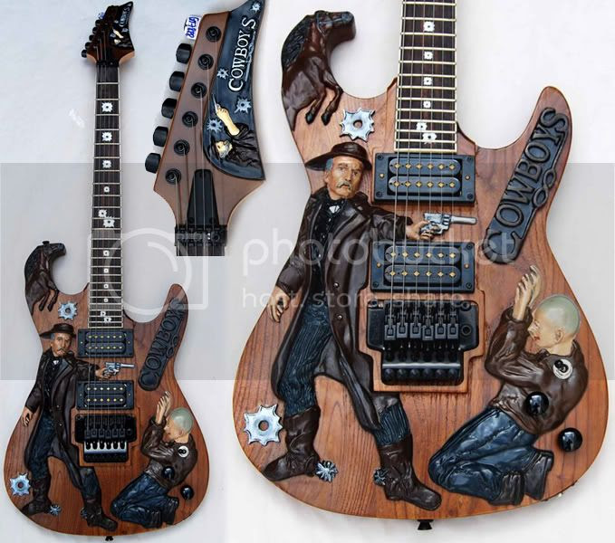 Inlaid Artist's Cowboy Guitar