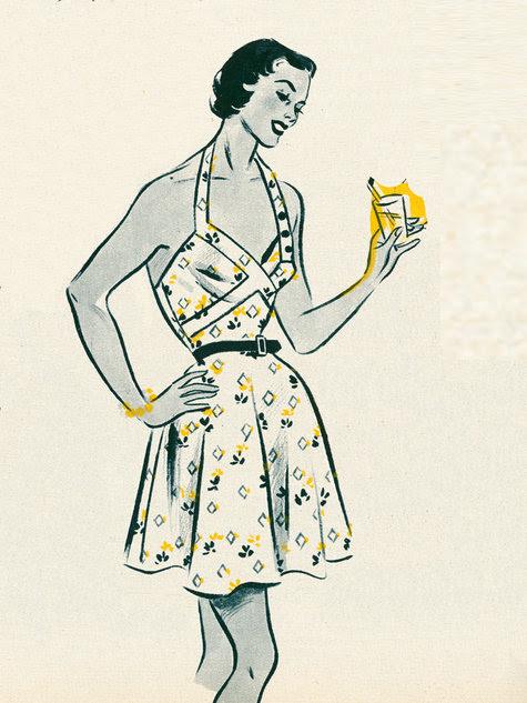 1950 retro elbise kalıbı