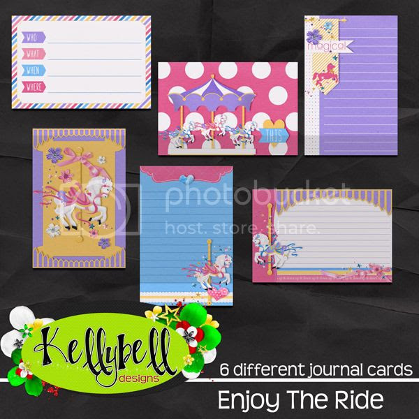 Kellybell Designs Enjoy the Ride Journal Cards