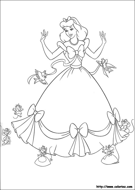 Cendrillon Coloriage