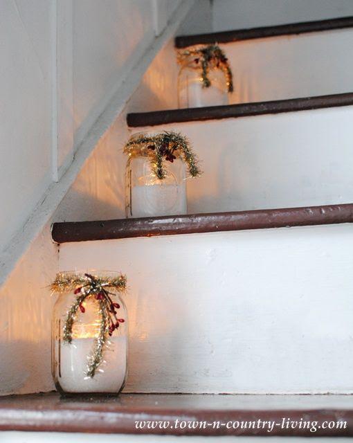 Mason Jar Farmhouse Christmas Candles