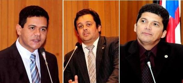 Deputados Luciano Leitoa, Carlos Filho e Marcos Caldas