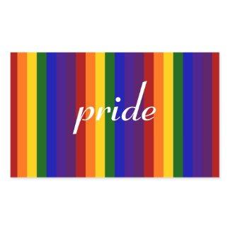 Rainbow Stripes Rectangular Sticker