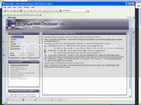 Vídeo curso desarrollo de aplicaciones web ASP.NET C# visual web developer 2008 express edition