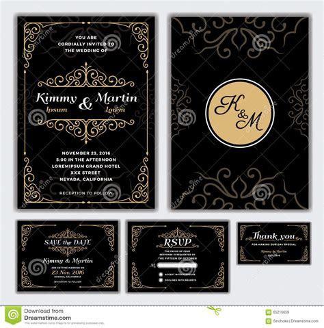 Elegant Wedding Invitation Design Template. Stock Vector