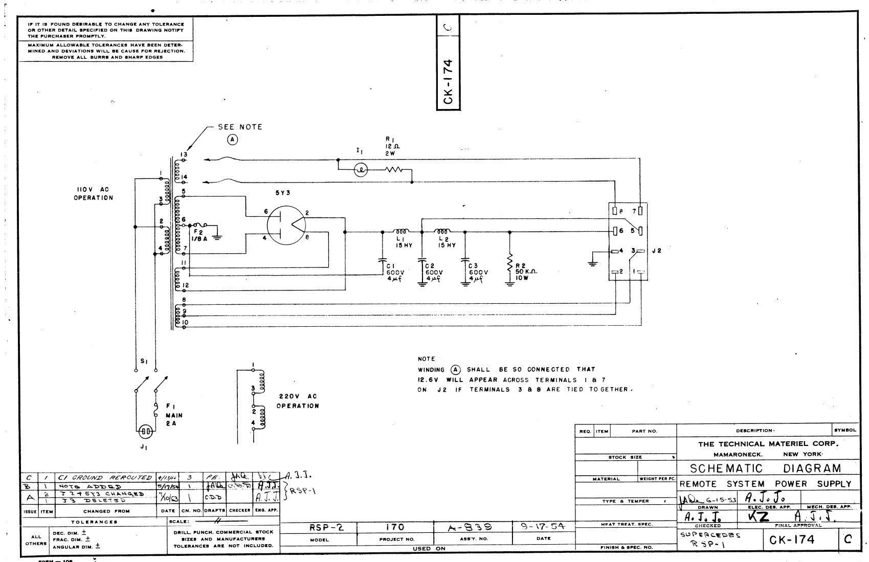 V12 Amplifier Schematic Diagram