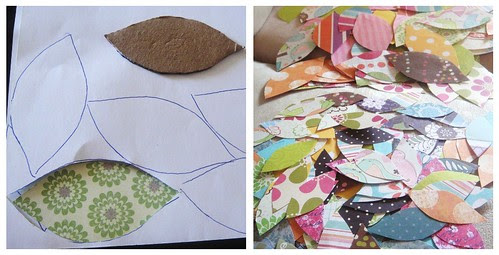 Cut out your scrapbook paper leaves