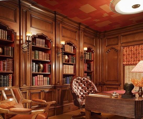 parete libreria classica studio