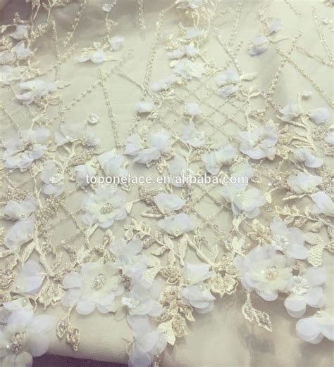 2017 Wholesale Haute Couture Handmade Beaded Indian Lace