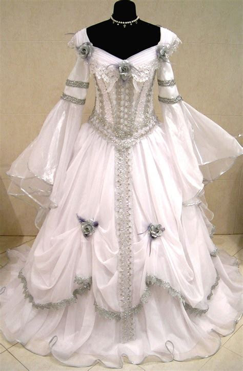 silver medieval wedding dress silvery dreams