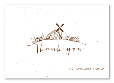 Happy Barn Thank You Cards