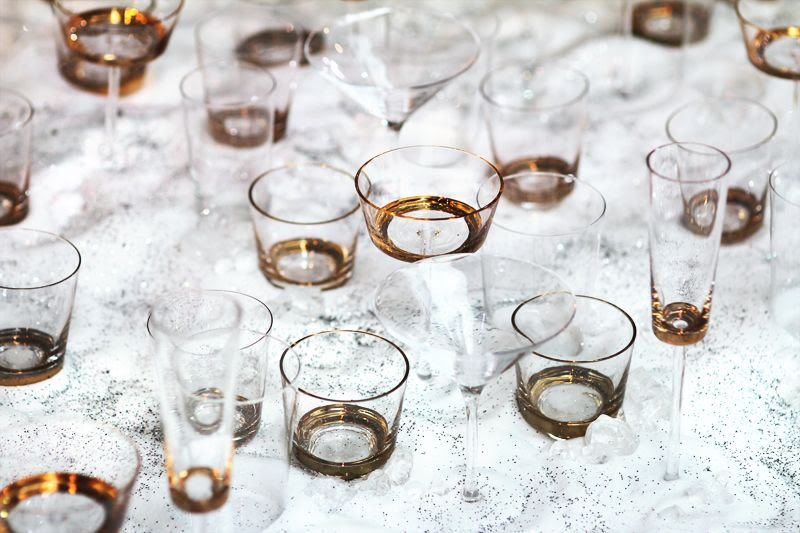 Selfridges Christmas Window Display Glasses