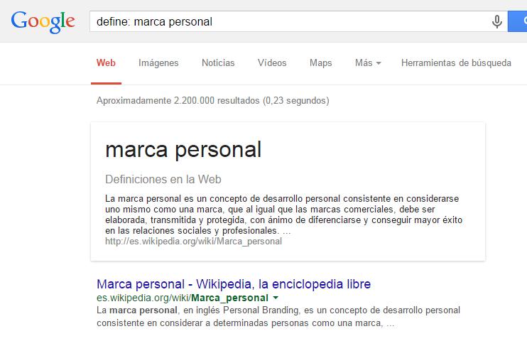 comando define de google