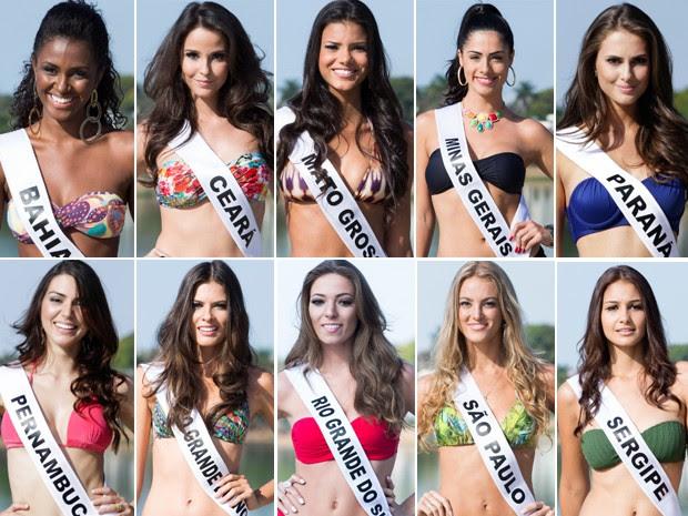 Conheça as dez semifinalistas do Miss Brasil 2013. (Foto: Carol Gherardi/Band)