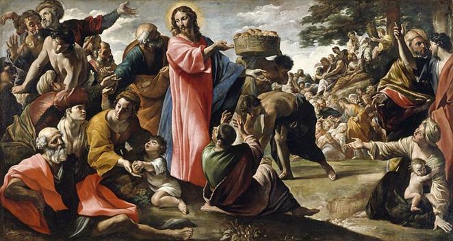 File: Giovanni Lanfranco - milagre do pão e peixe - WGA12454.jpg