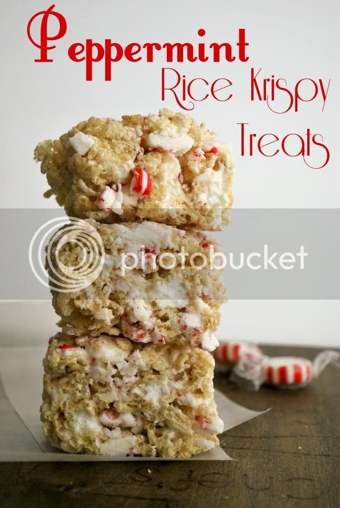 Peppermint Rice Krispy Treats