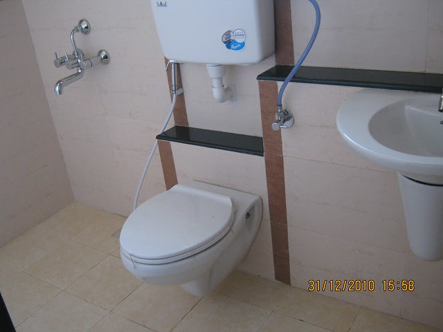 Toilet - Visit to the Sample Flat at iParmar Group's River Residency, 34 Acre Township of 1 BHK, 2 BHK & 3 BHK Flats in Chikhali, in PCMC limits, Pune 412114