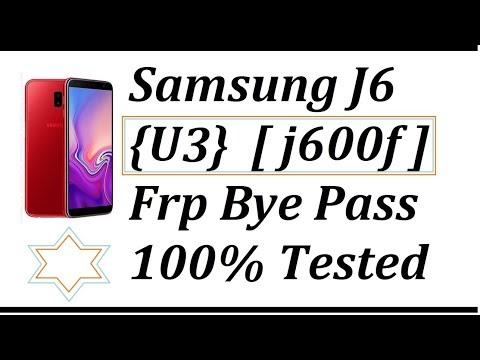 Samsung J6 (U3) [j600f] Frp Bye Pass 100%  Tested With Combination
