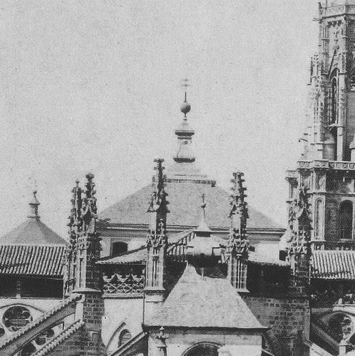 Cimborrio de la Catedral de Toledo antes de 1889. Fotografía de Casiano Alguacil