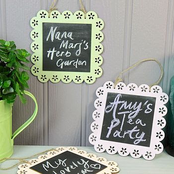 Pastel Frilly Chalkboard Decoration