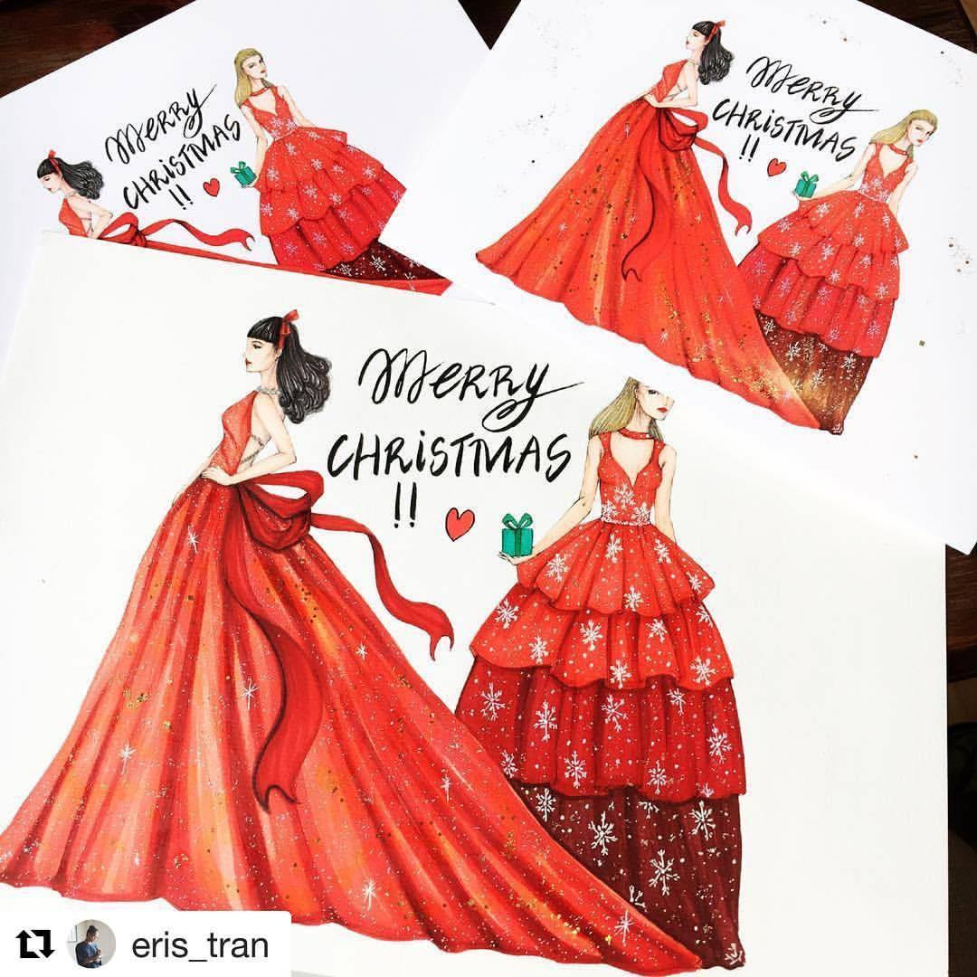 "gidgetbowden: ""#Repost @eris_tran with @repostapp Winter is coming to town!!! Preparing for Christmas!! #sketch #sketching #drawing #draw #fashion #fashionsketch #fashiondrawing #fashionsketching #fashionillustrator #fashionillustration #fashionart..."