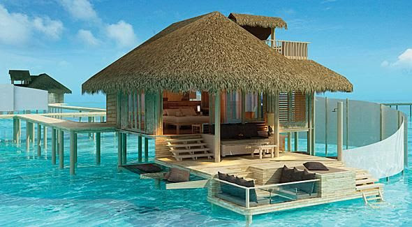 Luxury Spa and Overwater Rooms at Six Senses Latitude Laamu /  Maldivies