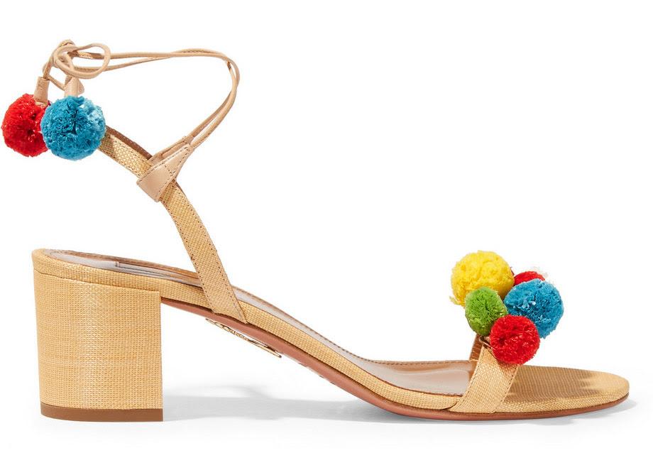 http://www.vistelacalle.com/wp-content/uploads/2016/03/Aquazzura-Pompom-Embellished-Raffia-Sandals.jpg