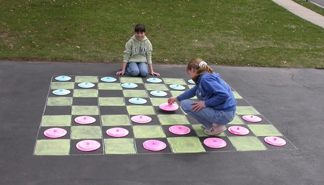 Play Checkers on the Sidewalk craft
