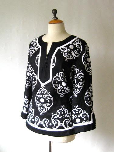 black white tunic RTW