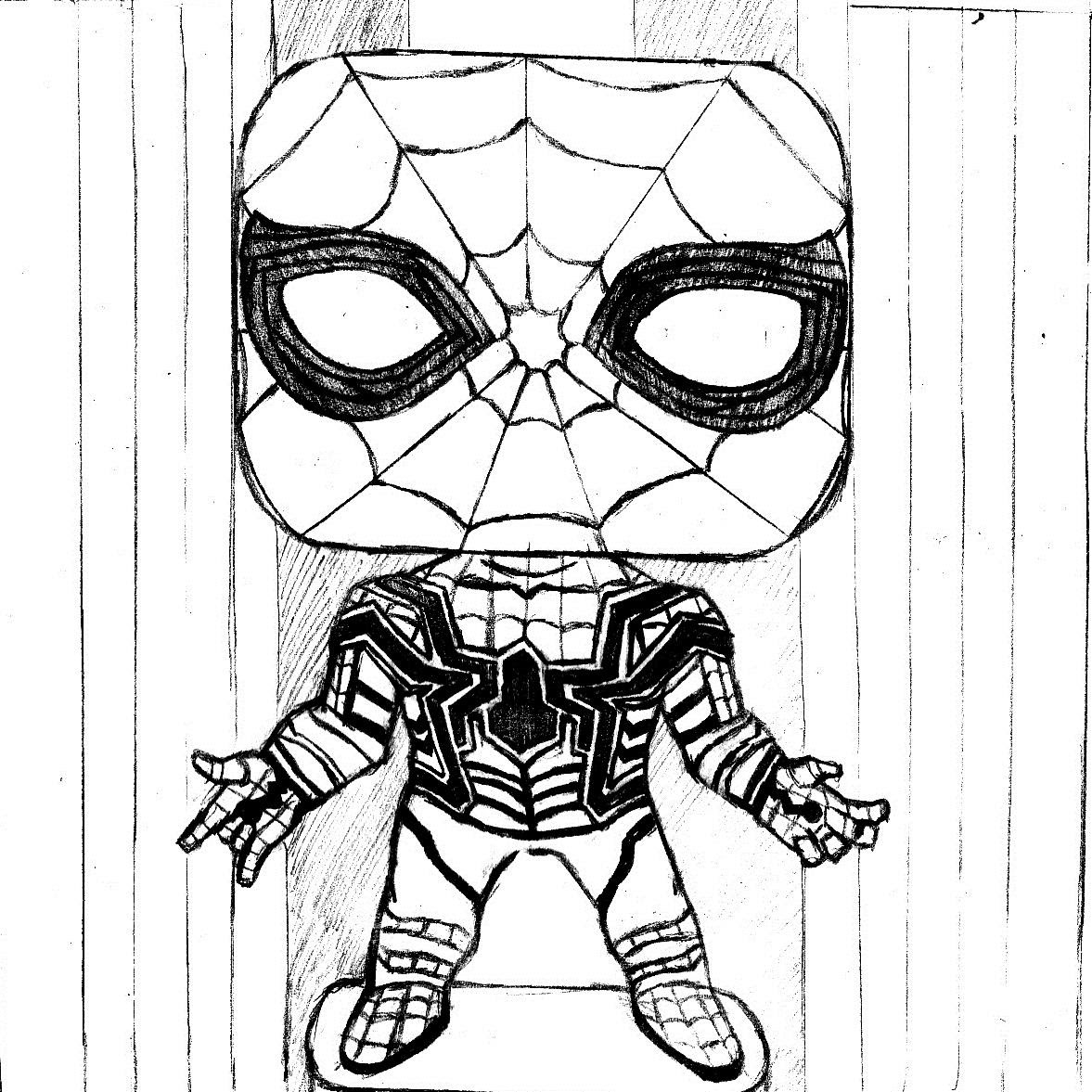 Kids-n-fun.com | 13 coloring pages of Funko Pops Marvel | 1177x1177