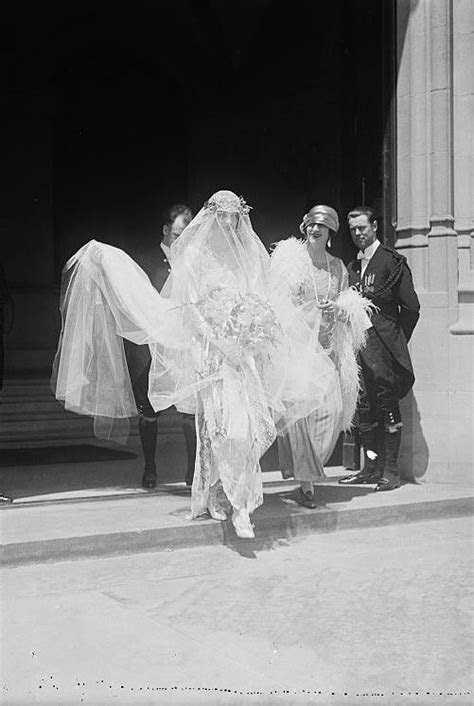 Cornelia Vanderbilt on her wedding day at Biltmore estate