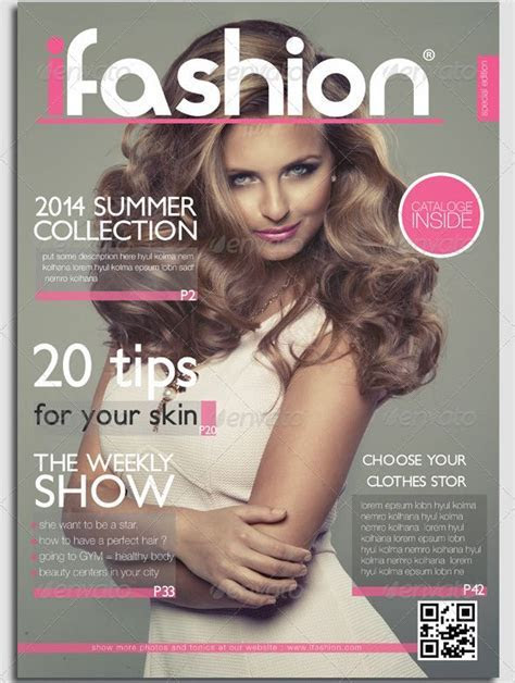 Fashion Magazine Cover Template designs for you to make